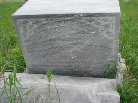 LOOMIS, C.A. - Clay County, South Dakota   C.A. LOOMIS - South Dakota Gravestone Photos