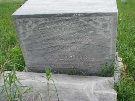 LOOMIS, C.A. - Clay County, South Dakota | C.A. LOOMIS - South Dakota Gravestone Photos
