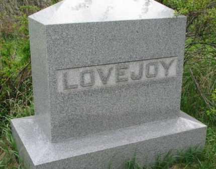 LOVEJOY, FAMILY STONE - Clay County, South Dakota | FAMILY STONE LOVEJOY - South Dakota Gravestone Photos