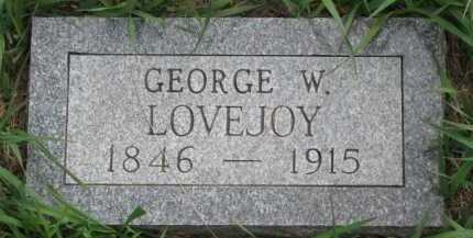 LOVEJOY, GEORGE W. - Clay County, South Dakota | GEORGE W. LOVEJOY - South Dakota Gravestone Photos