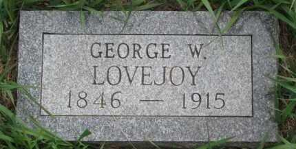 LOVEJOY, GEORGE W. - Clay County, South Dakota | GEORGE W. LOVEJOY - South Dakota Gravestone Photos