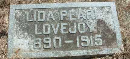 LOVEJOY, LIDA PEARL - Clay County, South Dakota   LIDA PEARL LOVEJOY - South Dakota Gravestone Photos