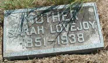 LOVEJOY, SARAH - Clay County, South Dakota | SARAH LOVEJOY - South Dakota Gravestone Photos