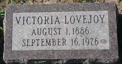 LOVEJOY, VICTORIA - Clay County, South Dakota | VICTORIA LOVEJOY - South Dakota Gravestone Photos