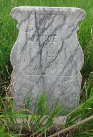 LOW, MINNIE - Clay County, South Dakota | MINNIE LOW - South Dakota Gravestone Photos