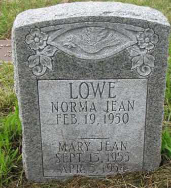 LOWE, MARY JEAN - Clay County, South Dakota | MARY JEAN LOWE - South Dakota Gravestone Photos