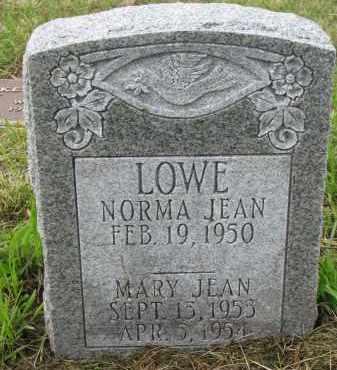 LOWE, MARY JEAN - Clay County, South Dakota   MARY JEAN LOWE - South Dakota Gravestone Photos