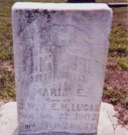 LUCAS, MARIA E. - Clay County, South Dakota | MARIA E. LUCAS - South Dakota Gravestone Photos