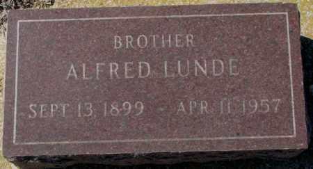 LUNDE, ALFRED - Clay County, South Dakota | ALFRED LUNDE - South Dakota Gravestone Photos