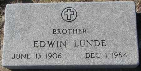 LUNDE, EDWIN - Clay County, South Dakota | EDWIN LUNDE - South Dakota Gravestone Photos