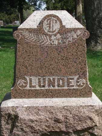 LUNDE, FAMILY STONE - Clay County, South Dakota   FAMILY STONE LUNDE - South Dakota Gravestone Photos