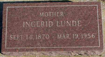 LUNDE, INGERID - Clay County, South Dakota | INGERID LUNDE - South Dakota Gravestone Photos