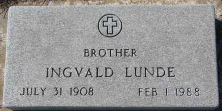 LUNDE, INGVALD - Clay County, South Dakota | INGVALD LUNDE - South Dakota Gravestone Photos