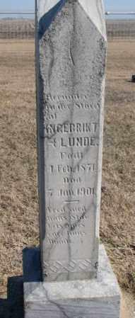 LUNDE, INGEBRIK T. - Clay County, South Dakota | INGEBRIK T. LUNDE - South Dakota Gravestone Photos