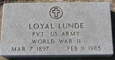 LUNDE, LOYAL - Clay County, South Dakota | LOYAL LUNDE - South Dakota Gravestone Photos