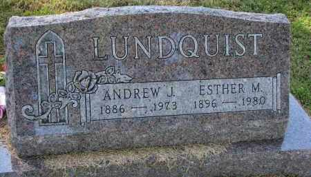 LUNDQUIST, ANDREW J. - Clay County, South Dakota   ANDREW J. LUNDQUIST - South Dakota Gravestone Photos
