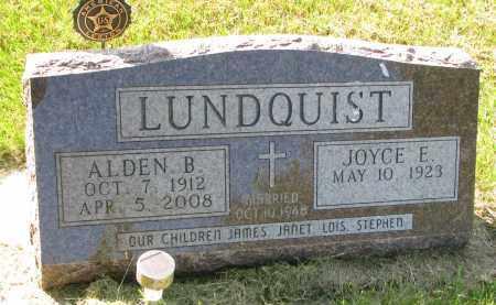 LUNDQUIST, JOYCE E. - Clay County, South Dakota | JOYCE E. LUNDQUIST - South Dakota Gravestone Photos