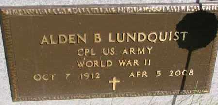 LUNDQUIST, ALDEN B. (WW II) - Clay County, South Dakota | ALDEN B. (WW II) LUNDQUIST - South Dakota Gravestone Photos