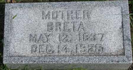 LUNDQUIST, BRETA - Clay County, South Dakota   BRETA LUNDQUIST - South Dakota Gravestone Photos