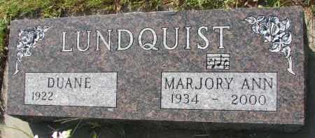 LUNDQUIST, MARJORY ANN - Clay County, South Dakota | MARJORY ANN LUNDQUIST - South Dakota Gravestone Photos