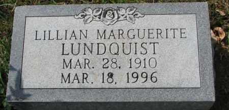 LUNDQUIST, LILLIAN MARGUERITE - Clay County, South Dakota | LILLIAN MARGUERITE LUNDQUIST - South Dakota Gravestone Photos
