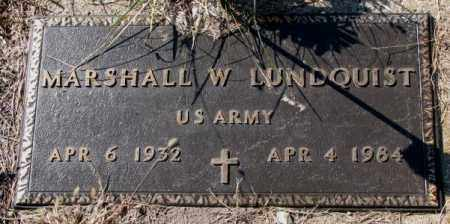 LUNDQUIST, MARSHALL W. (MILITARY) - Clay County, South Dakota | MARSHALL W. (MILITARY) LUNDQUIST - South Dakota Gravestone Photos