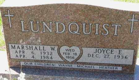 LUNDQUIST, MARSHALL W. - Clay County, South Dakota | MARSHALL W. LUNDQUIST - South Dakota Gravestone Photos