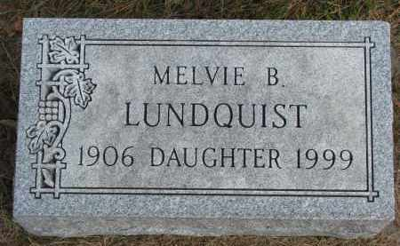LUNDQUIST, MELVIE B. - Clay County, South Dakota | MELVIE B. LUNDQUIST - South Dakota Gravestone Photos