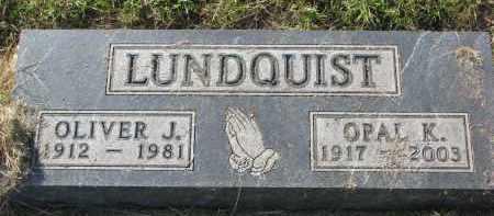 LUNDQUIST, OLIVER J. - Clay County, South Dakota | OLIVER J. LUNDQUIST - South Dakota Gravestone Photos