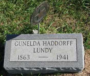 HADDORFF LUNDT, GUNELDA - Clay County, South Dakota | GUNELDA HADDORFF LUNDT - South Dakota Gravestone Photos