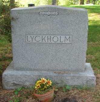 LYCKHOLM, FAMILY STONE - Clay County, South Dakota | FAMILY STONE LYCKHOLM - South Dakota Gravestone Photos