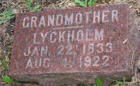 LYCKHOLM, GRANDMOTHER - Clay County, South Dakota | GRANDMOTHER LYCKHOLM - South Dakota Gravestone Photos