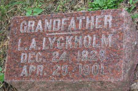 LYCKHOLM, L.A. - Clay County, South Dakota | L.A. LYCKHOLM - South Dakota Gravestone Photos