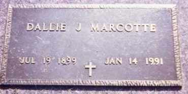 MARCOTTE, DALLIE J. - Clay County, South Dakota | DALLIE J. MARCOTTE - South Dakota Gravestone Photos