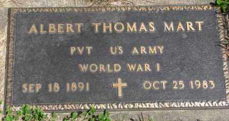 MART, ALBERT THOMAS (WW I) - Clay County, South Dakota | ALBERT THOMAS (WW I) MART - South Dakota Gravestone Photos