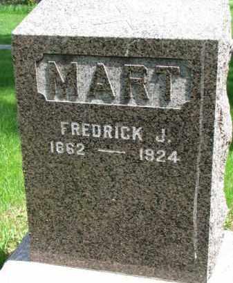 MART, FREDRICK J. - Clay County, South Dakota   FREDRICK J. MART - South Dakota Gravestone Photos