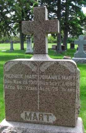 MART, FREDRICK - Clay County, South Dakota   FREDRICK MART - South Dakota Gravestone Photos