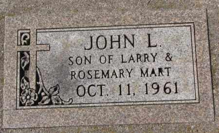 MART, JOHN L. - Clay County, South Dakota   JOHN L. MART - South Dakota Gravestone Photos