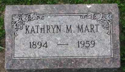 MART, KATHRYN M. - Clay County, South Dakota | KATHRYN M. MART - South Dakota Gravestone Photos