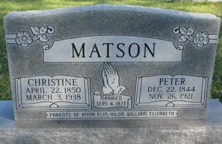 MATSON, CHRISTINE - Clay County, South Dakota   CHRISTINE MATSON - South Dakota Gravestone Photos