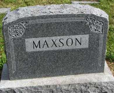MAXSON, FAMILY STONE - Clay County, South Dakota   FAMILY STONE MAXSON - South Dakota Gravestone Photos