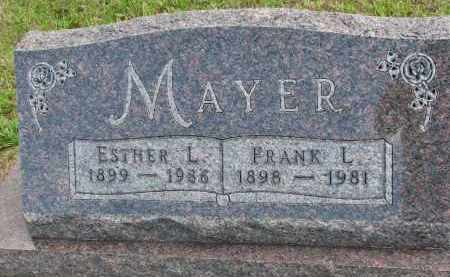 MAYER, FRANK L. - Clay County, South Dakota   FRANK L. MAYER - South Dakota Gravestone Photos