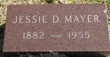 MAYER, JESSIE D. - Clay County, South Dakota | JESSIE D. MAYER - South Dakota Gravestone Photos