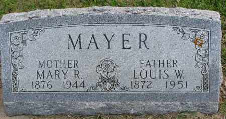 MAYER, MARY R. - Clay County, South Dakota | MARY R. MAYER - South Dakota Gravestone Photos
