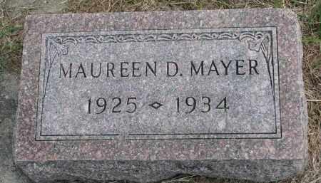 MAYER, MAUREEN D. - Clay County, South Dakota | MAUREEN D. MAYER - South Dakota Gravestone Photos