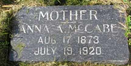 MCCABE, ANNA A. - Clay County, South Dakota | ANNA A. MCCABE - South Dakota Gravestone Photos