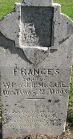MCCABE, FRANCES - Clay County, South Dakota | FRANCES MCCABE - South Dakota Gravestone Photos