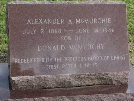 MCMURCHIE, ALEXANDER A. - Clay County, South Dakota | ALEXANDER A. MCMURCHIE - South Dakota Gravestone Photos
