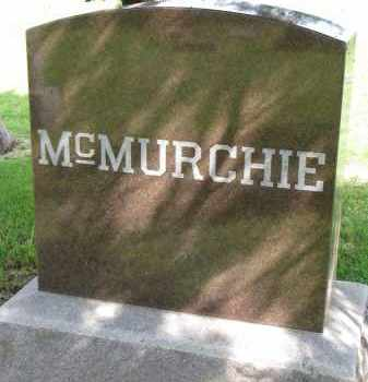 MCMURCHIE, FAMILY STONE - Clay County, South Dakota   FAMILY STONE MCMURCHIE - South Dakota Gravestone Photos