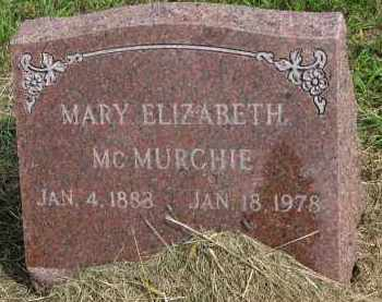 MCMURCHIE, MARY ELIZABETH - Clay County, South Dakota | MARY ELIZABETH MCMURCHIE - South Dakota Gravestone Photos